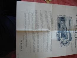 Grand Hotel Des Rases  Sur Sainte Croix  Ed Baierle Document Commerciale Pln  Des Etages Prix Tarif - France