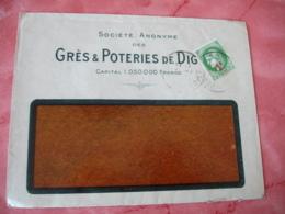 Digoin Gres Et Poteries  Enveloppe Commerciale - France