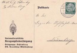 Karte Aus Schömberg 1933 - Briefe U. Dokumente