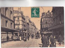 CPA - 75 - PARIS (10 Et 11ème) - TOUT PARIS - Faubourg Du Temple TRAMWAY Et Calèches à Chevaux - 1910 N) 1360 Ou 1560 - - Public Transport (surface)