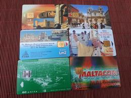 6 Phonecards Malta Used - Malte
