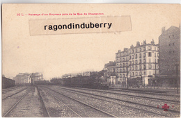 CPA - 75 - PARIS (12ème) - Passage D'un Express Pris De La Rue De Charentron Vers 1910 - EditFleury N° 10 L - Métro Parisien, Gares