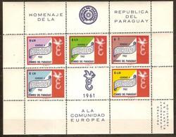 Paraguay 1961 Yvertn° Bloc 12 *** MNH  Cote 17,50 Euro Hommage CEPT Europa - Paraguay
