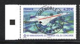 France 2019.50e Anniversaire Du Premier Vol Du Concorde.Cachet Rond.gomme D'origine. - Luchtpost