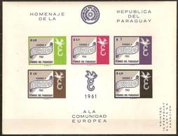Paraguay 1961 Yvertn° Bloc 12 *** MNH Non Dentélé  Cote 17,50 Euro Hommage CEPT Europa - Paraguay