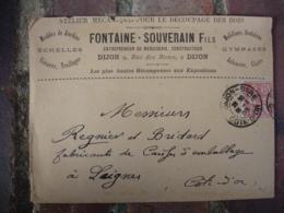 Dijon Fontaine Souverain Decoupage Bois Echelle Enveloppe Commerciale - France