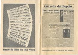 Calendarietto Campionato Di CALCIO 1957-1958 Gazzetta Del Popolo - Calcio
