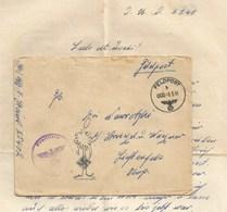 H888 - Feldpost 25402 - Mars 1941 - Franchise Illustée Palmier Avec Croix Allemande - Avec Correspondance - - Lettres & Documents