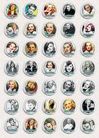 Jean Arthur Movie Film Fan ART BADGE BUTTON PIN SET 5 (1inch/25mm Diameter) 35 X - Films