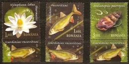 Roumanie Roemenie Romania 2008 Yvertn° 5334-5336 Avec Vignette *** MNH Cote 5,50 Euro Faune Et Flore - 1948-.... Républiques
