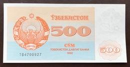 UZBEKISTAN P69 500 SUM 1992 UNC - Ouzbékistan