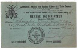 Ecole Centrale Paris  Abeille  1922 + Fiscal - Vieux Papiers