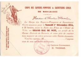 Bar Le Duc  1934  Sapeurs Pompiers - Vieux Papiers