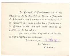 Lerouville 1923  Voir Scan - Vieux Papiers