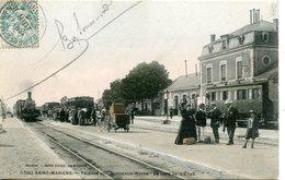 772. CPA COLORISEE SAINT-MARIENS. PASSAGE DU BORDEAUX-ROYAN EN GARE DE L'ETAT 1906 ? - Other Municipalities