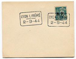RC 11713 FRANCE 1944 MERCURE R.F. LYON LIBÉRÉ SUR PETIT CARTON - Libération