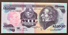 URUGUAY P64 1000  NUEV PESOS ND 1992 UNC - Uruguay