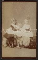 Photo-carte De Visite / CDV / Children / Enfants / Photographer Walter Fisher / Filey / England / 2 Scans - Anciennes (Av. 1900)