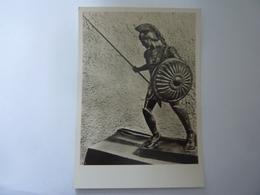 """Cartolina """"MOSTRA AUGUSTEA DELLA ROMANITA'  1937 / 1938  - GUERRIERO ETRUSCO"""" - Mostre, Esposizioni"""