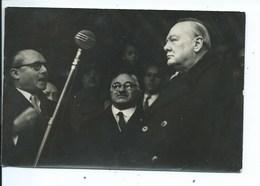Photographie ( 22 Cm / 16,5 Cm ) Winston Churchill  Bruxelles Av. Brugmann à  Uccle Avec Le Bourgmestre Herinckx - Persone Identificate