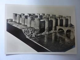 """Cartolina """"MOSTRA AUGUSTEA DELLA ROMANITA'  1937 / 1938  -  RICOSTRUZIONE DELLA TESTA DI PONTE DEL CASTELLO DI DEUTZ"""" - Expositions"""