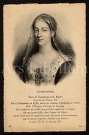 Postcard / CP / Postkaart / Agnès Sorel / Favorite Du Roi De France Charles VII / Dame De Fromenteau / Unused - Historische Persönlichkeiten