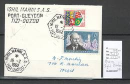 Algerie - Lettre  - Cachet Hexagonal IGHIL MAHNI SAS -  Marcophilie - Algeria (1924-1962)