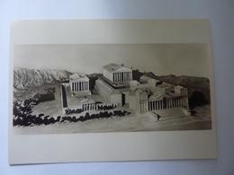 """Cartolina """"MOSTRA AUGUSTEA DELLA ROMANITA'  1937 / 1938  - PLASTICO RICOSTRUZIONE DELL'ACROPOLI DI BAALBEC"""" - Mostre, Esposizioni"""