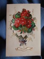 Petite Image Avec Découpis Bouquet De Fleur L428 - Fleurs