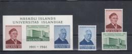 Island Michel Cat.No.  Mnh/** 356/358 + Sheet 3 - 1944-... Republik