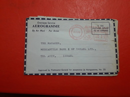 L'Australie Un Aérogramme Circulé à Israël 1976 - Aerogrammes