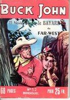 BUCK JOHN - N° 52 - NOVEMBRE 1955 - EDITEUR IMPERIA - TRES BON ETAT - WESTERN COW BOY INDIENS - - Petit Format