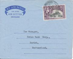 TRINIDAD & TOBAGO / SAN FERNANDO -  1957 , ELIZABETH II.  ,  BY AIR MAIL / AIR LETTER  -  To Zurich / CH - Trinidad & Tobago (1962-...)