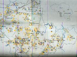 THUIN - Carte Des Monuments  De L'arrondissement - Cartes