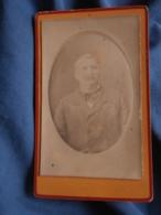 Photo CDV  Lepron Guenault à Langon  Portrait Homme âgé  Lavalière  CA 1885 - L424B - Photos