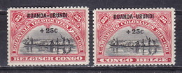 Ruanda Urundi Nr 77-78       Neufs - Postfris - MNH  (xx) - 1924-44: Neufs