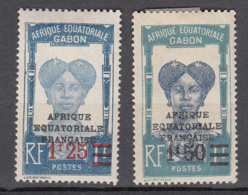 Gabon 111 + 112 * - Ongebruikt
