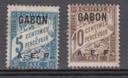 Gabon Tx 1 Et 2 * - Gabon (1886-1936)