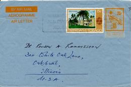 TRINIDAD & TOBAGO /  PORT Of SPAIN -  1981 ,  ELIZABETH II.  ,   AEROGRAMME /  AIR LETTER - To USA - Trinidad & Tobago (1962-...)