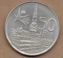 50 Francs Argent Exposition Universelle Baudouin I 1958 FL - 1951-1993: Baudouin I