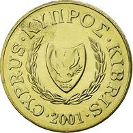 Monnaie, Chypre, 20 Cents, 2001, SUP, Nickel-brass, KM:62.2 - Chypre
