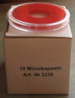 LINDNER - CAPSULES Pour BOX De MONNAIES Avec INLETT ROUGE VIF - De 16 à 39 Mm (REF. 2230) - Matériel