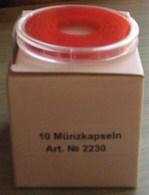LINDNER - CAPSULES Pour BOX De MONNAIES Avec INLETT ROUGE VIF - De 16 à 39 Mm (Boîte Entamée Avec 5 Capsules) - Matériel