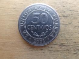 Bolivie  50 Centavos  2006  Km 204 - Bolivie