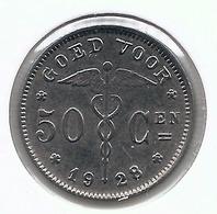 ALBERT I * 50 Cent 1928 Vlaams * 28 Over 23 * Prachtig * Nr 5305 - 06. 50 Céntimos