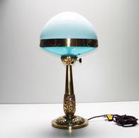 Rare Ancienne Lampe De Table ILRIN En Bronze Modèle N°126 Art Deco L. BOSI & CO French Bronze Table Lamp 1920 1930 - Luminaires