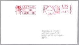 SALVAR LOS BOSQUES - SURVIVAL OF THE FORESTS - New York ONU 1988 - Protección Del Medio Ambiente Y Del Clima