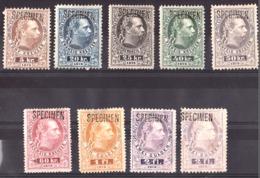 """Autriche - 1874/76 - Timbres-Télégraphe N° 9 à 16 Surchargés """"SPECIMEN"""" - Neufs * - François-Joseph 1er - Telegraphenmarken"""
