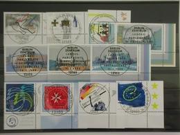Deutschland (BRD), Partie Aus Dem Jahrgang 1999 Mit ESST, Eckränder Rechts Unten - [7] République Fédérale