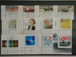 Deutschland (BRD), Postfrische Partie Aus Dem Jahrgang 1999, Eckränder Links Unten - [7] République Fédérale